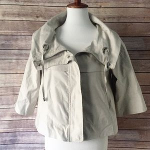 Zara Basic Off White Jacket Long Sleeve Size M